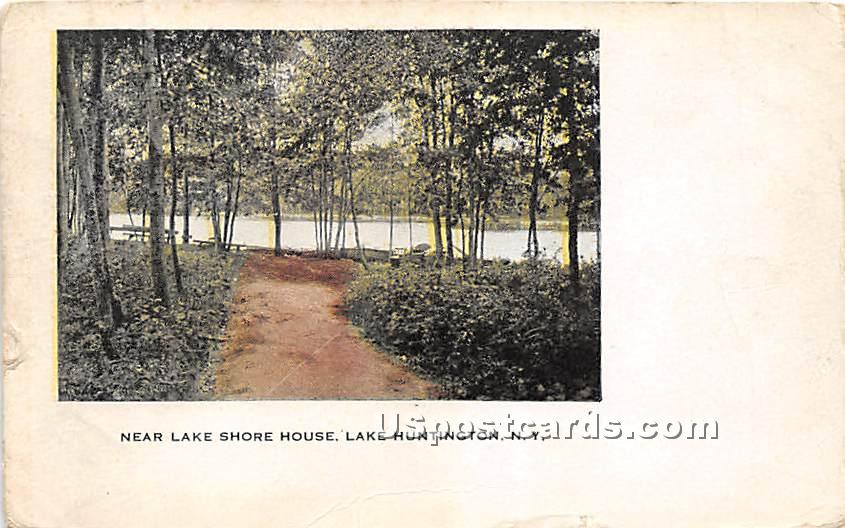 Near Lake Shore House - Lake Huntington, New York NY Postcard