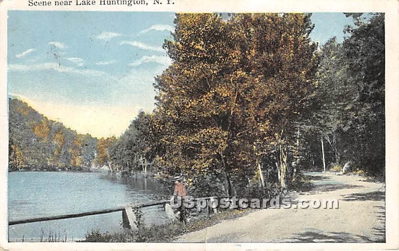 Scene near Lake - Lake Huntington, New York NY Postcard