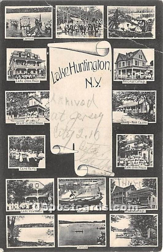 Carnival - Lake Huntington, New York NY Postcard
