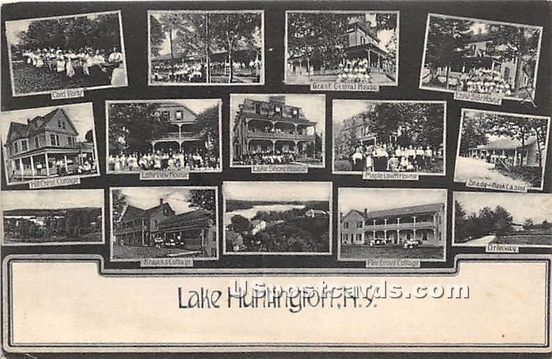Lake View House, Card Party - Lake Huntington, New York NY Postcard