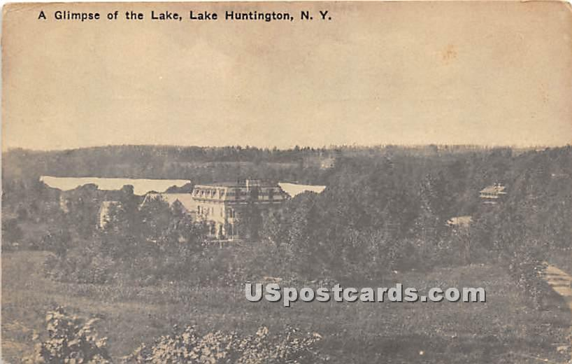 Glimpse of the Lake - Lake Huntington, New York NY Postcard