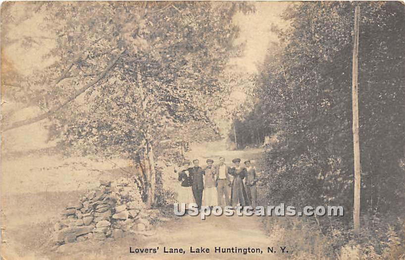Lover's Lane - Lake Huntington, New York NY Postcard
