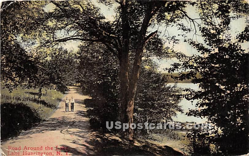Road Around the Lake - Lake Huntington, New York NY Postcard