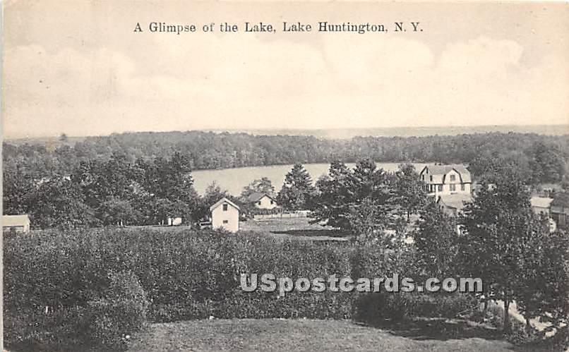 Glimpse of the Lake - Lake Huntington, New York NY Postcard