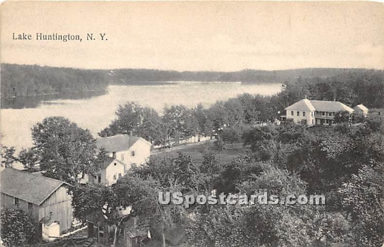 Birds Eye View - Lake Huntington, New York NY Postcard