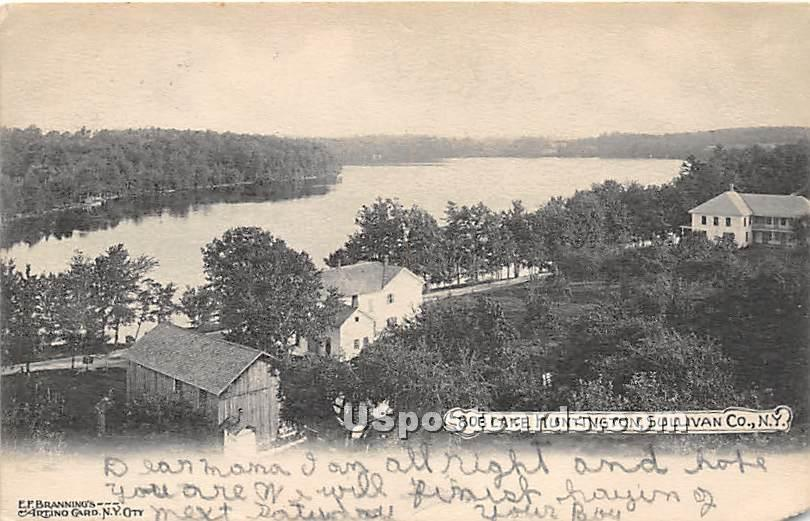 Birds Eye View - Lake Huntington, New York NY Postcard
