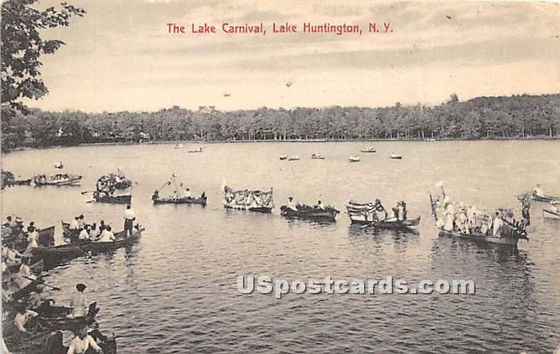The Lake Carnival - Lake Huntington, New York NY Postcard