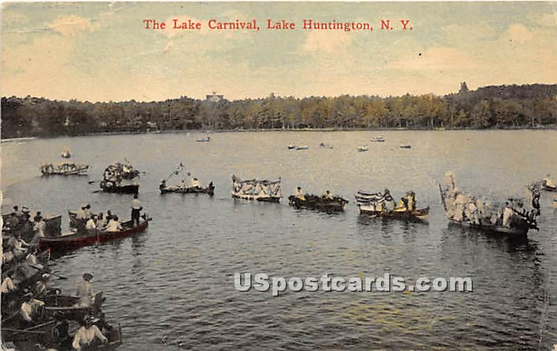 The Lake Carnival - Lake Huntington, New York NY Postcard