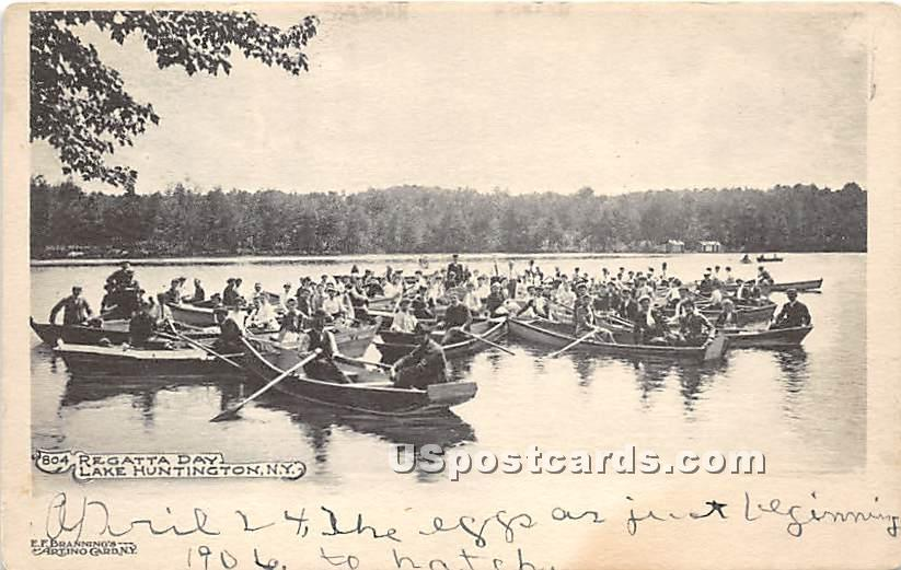 Regatta Day - Lake Huntington, New York NY Postcard