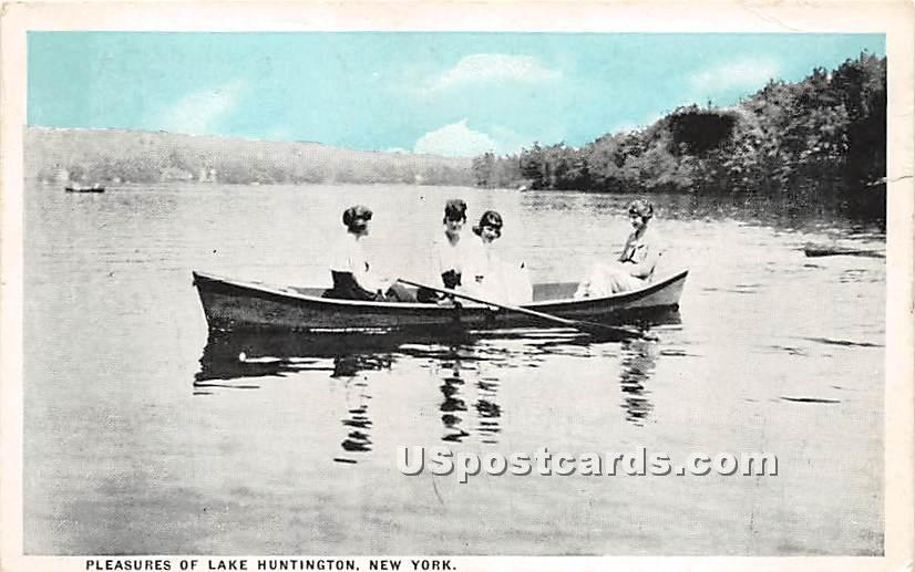 Pleasures - Lake Huntington, New York NY Postcard