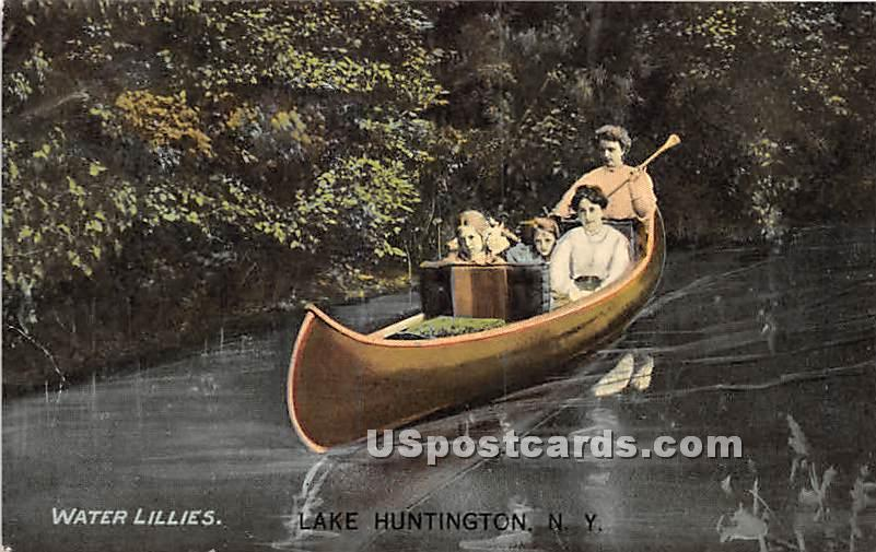 Water Lillies - Lake Huntington, New York NY Postcard