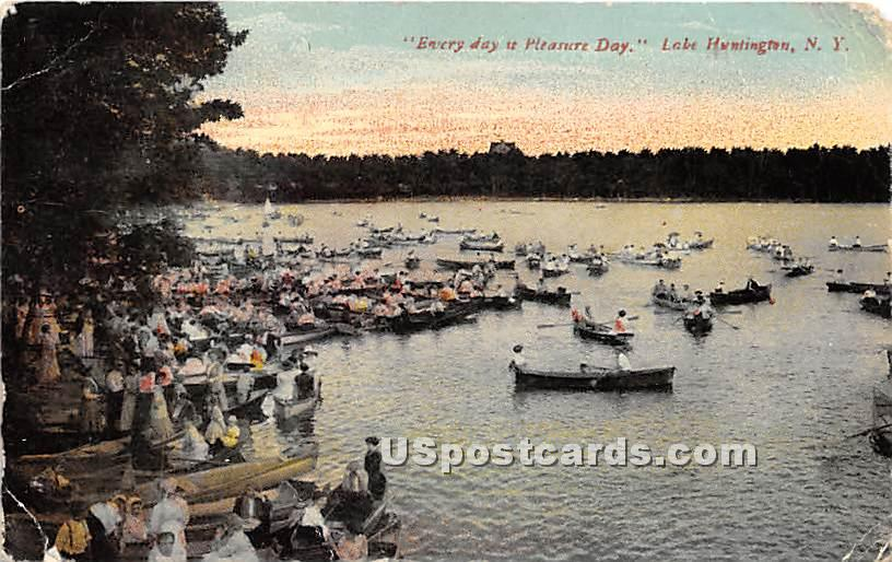 Everyday is Pleasure Day - Lake Huntington, New York NY Postcard