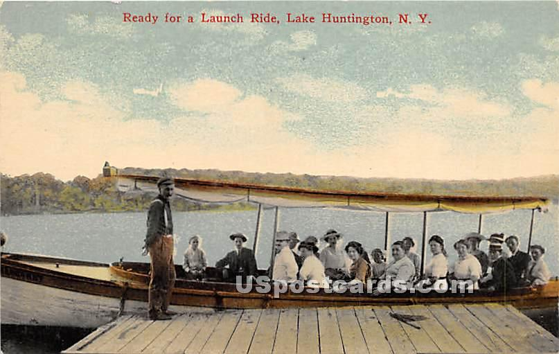Ready for a Launch Ride - Lake Huntington, New York NY Postcard