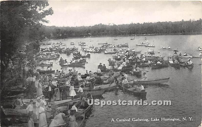 Carnival Gathering - Lake Huntington, New York NY Postcard
