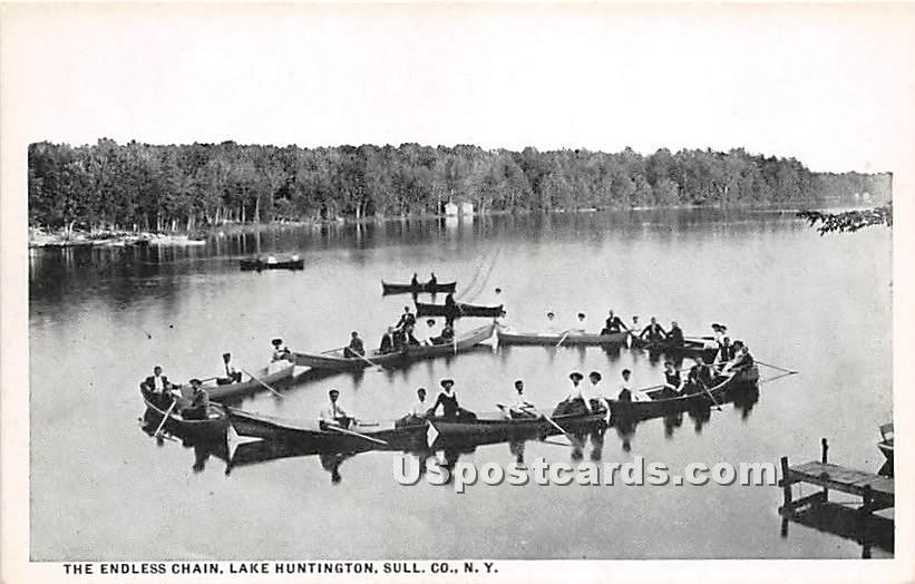 The Endless Chain - Lake Huntington, New York NY Postcard