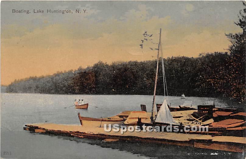 Boating - Lake Huntington, New York NY Postcard