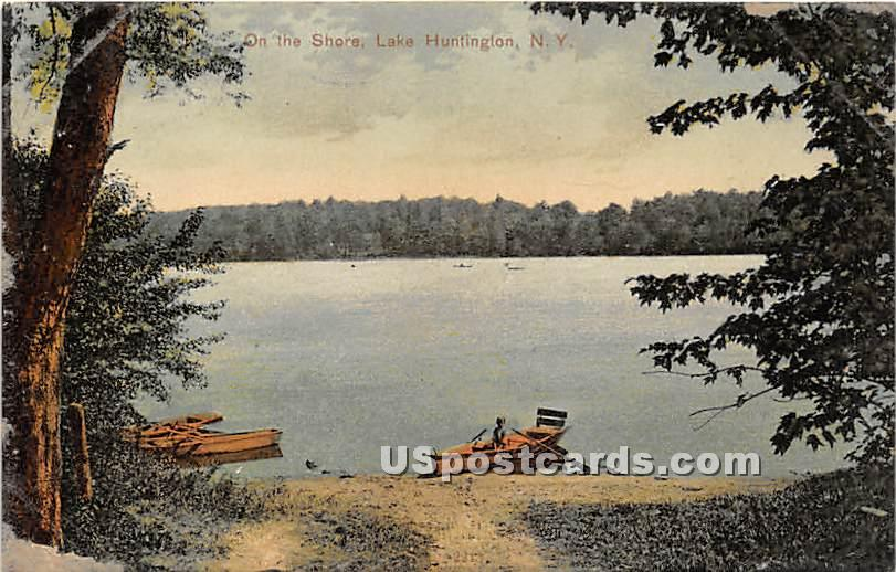 On the Shore - Lake Huntington, New York NY Postcard