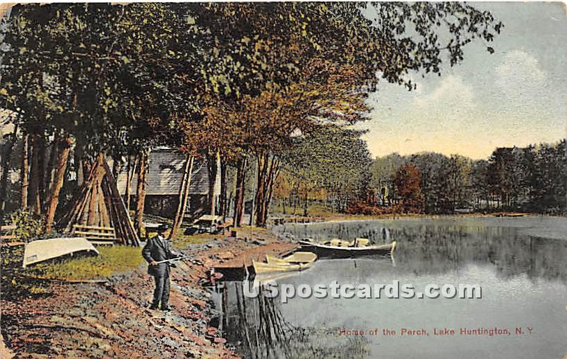 Home of the Perch - Lake Huntington, New York NY Postcard