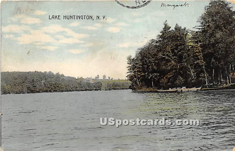 Lake View - Lake Huntington, New York NY Postcard
