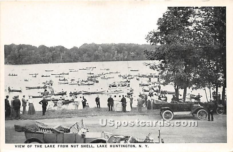 View of the Lake from Nut Shell - Lake Huntington, New York NY Postcard