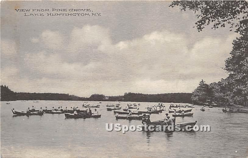 View from Pine Grove - Lake Huntington, New York NY Postcard