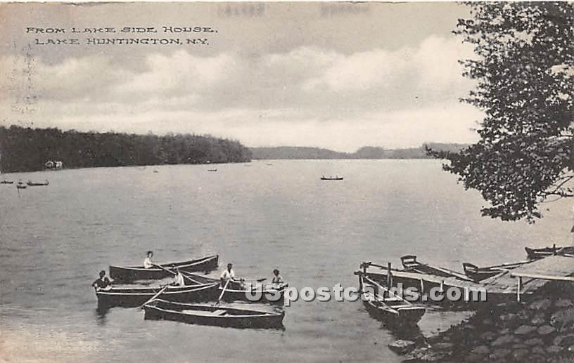 From Lake Side House - Lake Huntington, New York NY Postcard