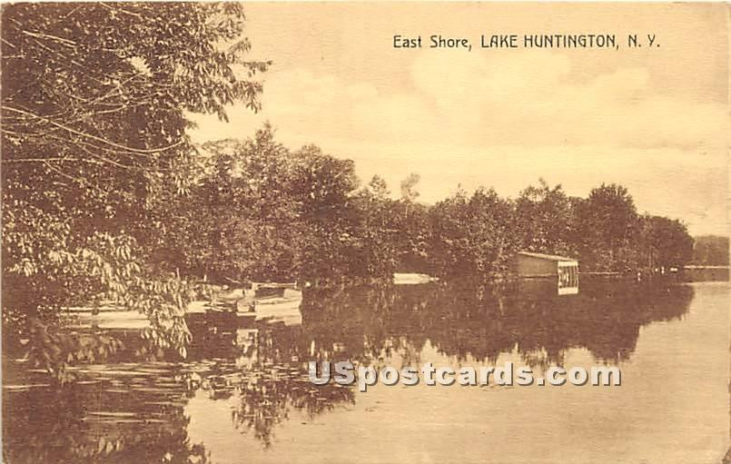 East Shore - Lake Huntington, New York NY Postcard