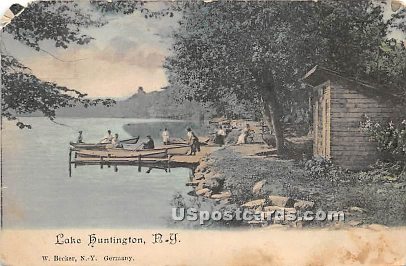 Shore Scene - Lake Huntington, New York NY Postcard
