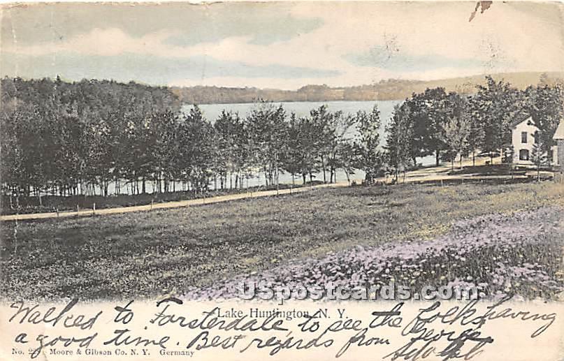 Lake View - Lake Huntington, New York NY Postcard