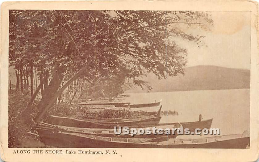 Along the Shore - Lake Huntington, New York NY Postcard