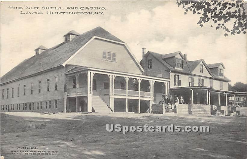 The Nut Shell and Casino - Lake Huntington, New York NY Postcard