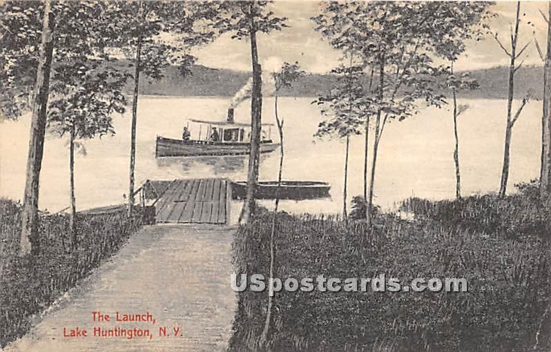 The Launch - Lake Huntington, New York NY Postcard