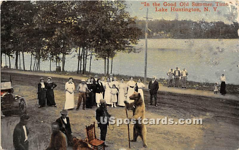 In the Good Old Summer Time - Lake Huntington, New York NY Postcard