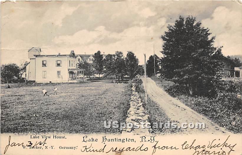 Lake View House - Lake Huntington, New York NY Postcard