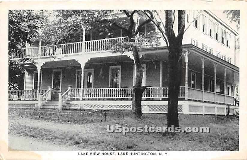 Lake View House - Lake Huntington, New York NY Postcard