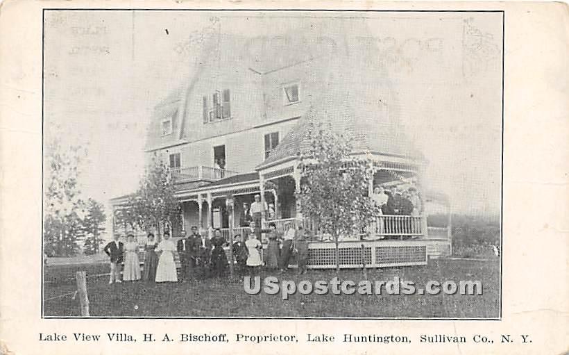Lake View Villa - Lake Huntington, New York NY Postcard