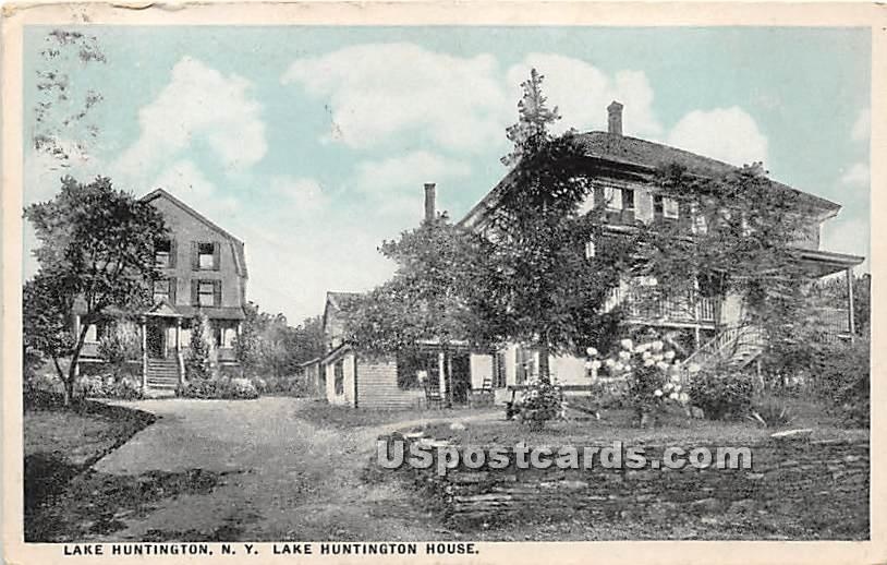 Lake Huntington House - New York NY Postcard