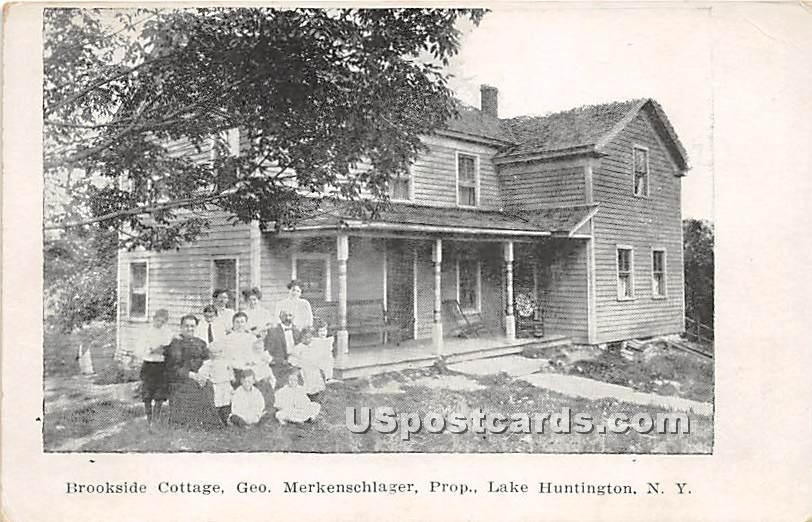 Brookside Cottage - Lake Huntington, New York NY Postcard