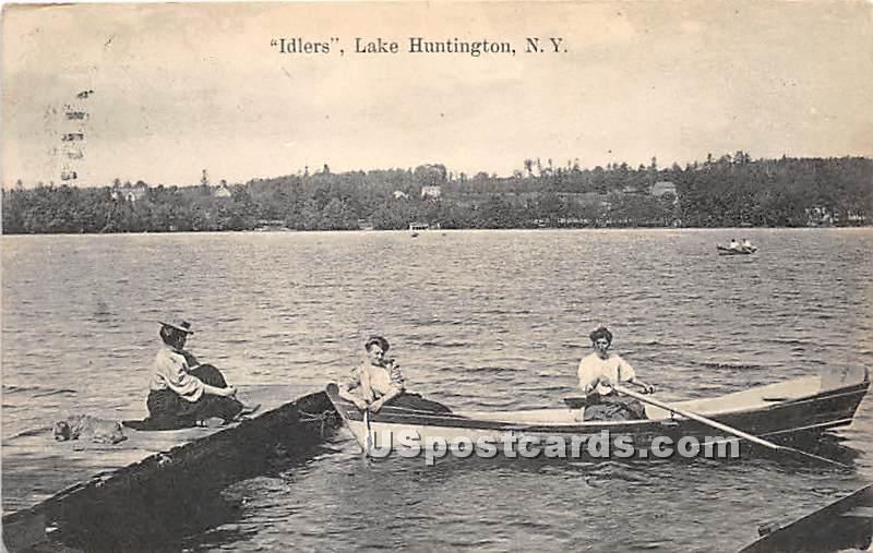 Idlers - Lake Huntington, New York NY Postcard