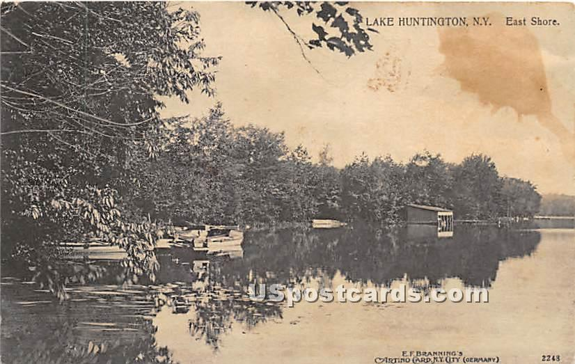 East Shore - Lake Huntington, New York NY Postcard