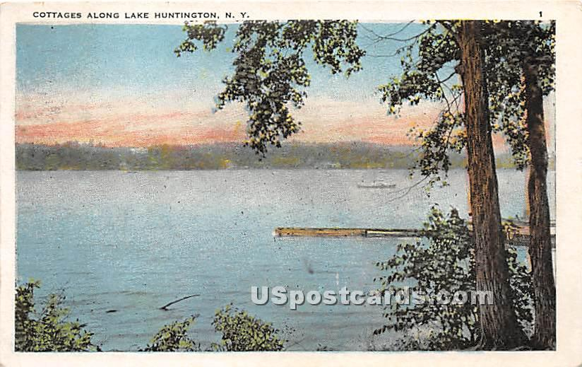 Cottages Along the Lake - Lake Huntington, New York NY Postcard