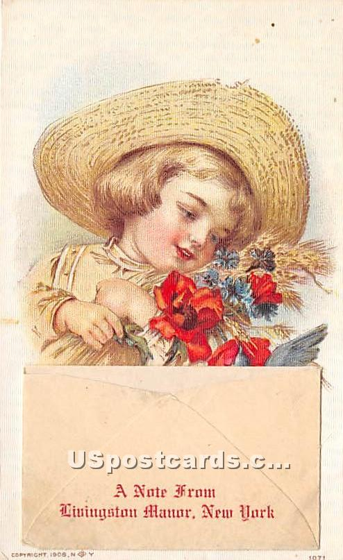 A Note From - Livingston Manor, New York NY Postcard