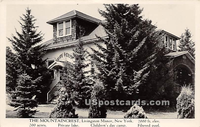 The Mountaincrest - Livingston Manor, New York NY Postcard