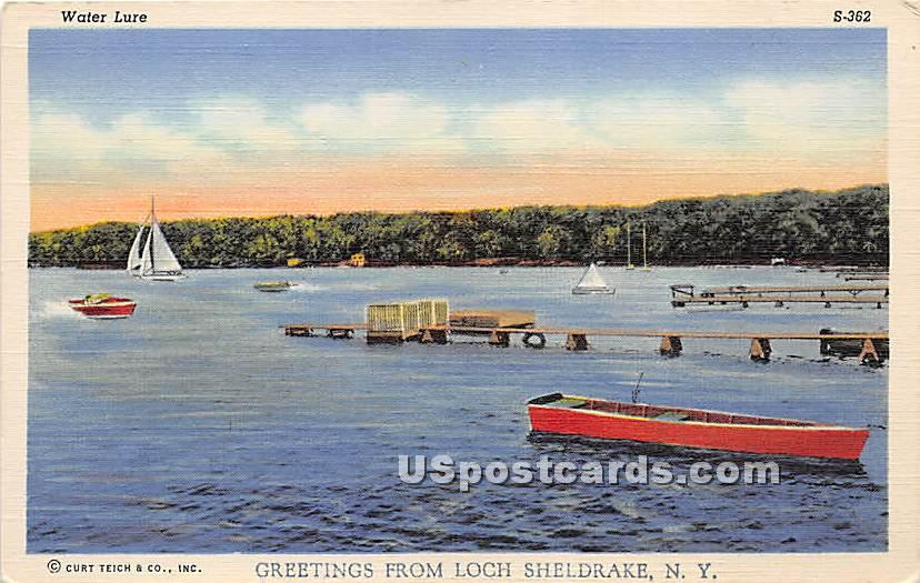 Water Lure - Loch Sheldrake, New York NY Postcard