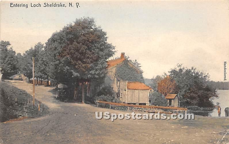 Entering - Loch Sheldrake, New York NY Postcard
