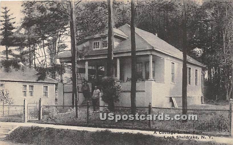 A Cottage at the Park - Loch Sheldrake, New York NY Postcard