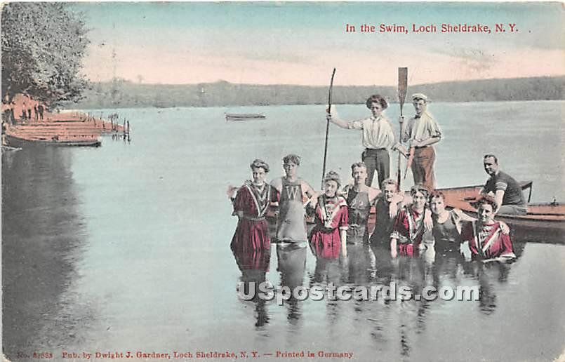 In the Swim - Loch Sheldrake, New York NY Postcard