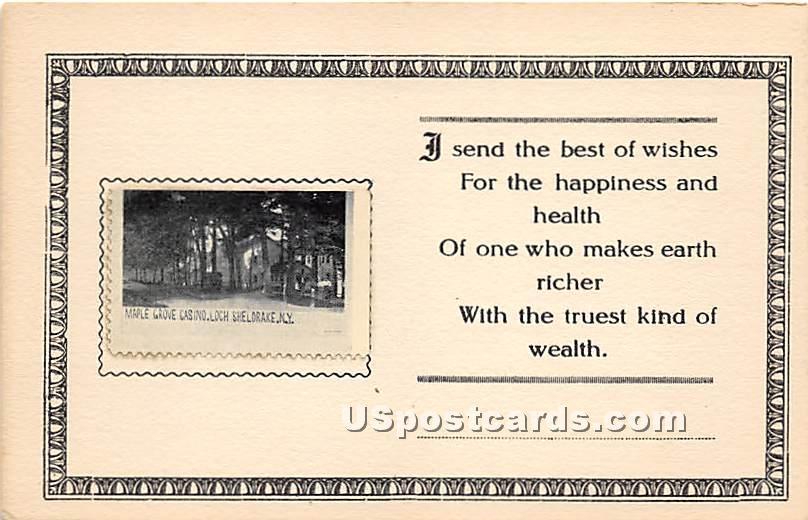 Maple Grove Casino - Loch Sheldrake, New York NY Postcard