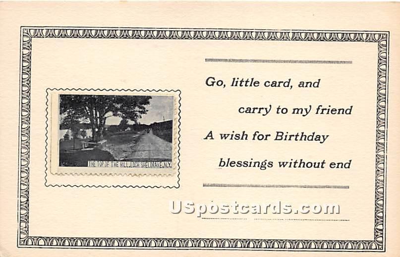 Top of the Hill - Loch Sheldrake, New York NY Postcard