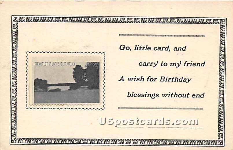 Outlet - Loch Sheldrake, New York NY Postcard